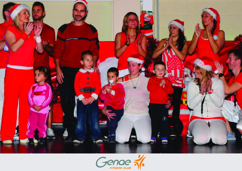 Lovely pictures showing staff and young children dressed in red Santa Clause costume