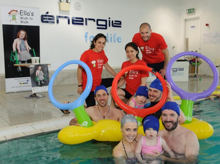 Members of  the  Rathfarnham énergie staff team with Ella