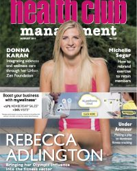Front cover of Health Club Management showing a picture of Rebecca Adlington, Olympic swimmer